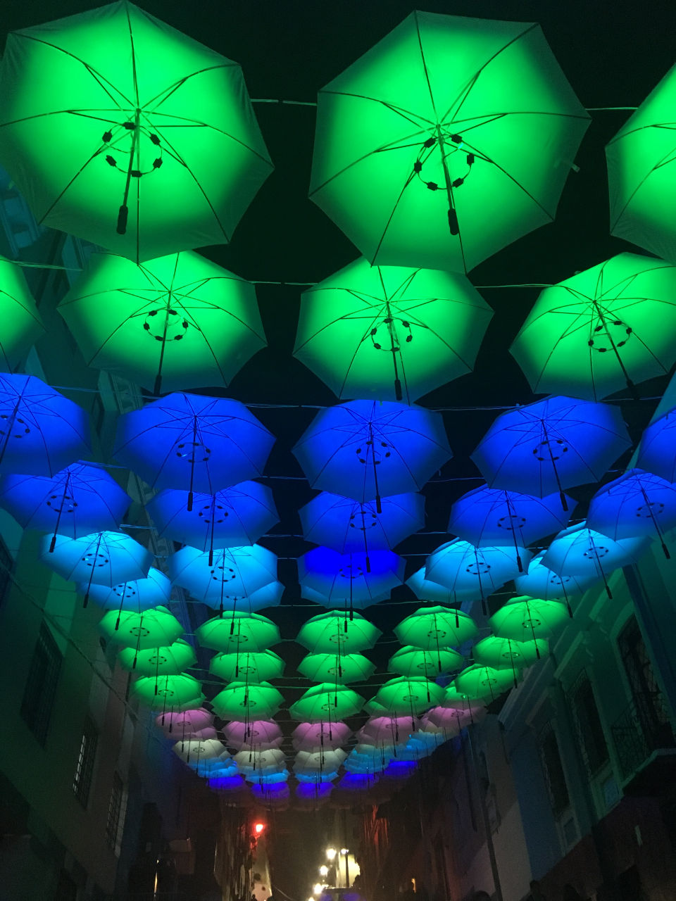 festival of light umbrellas