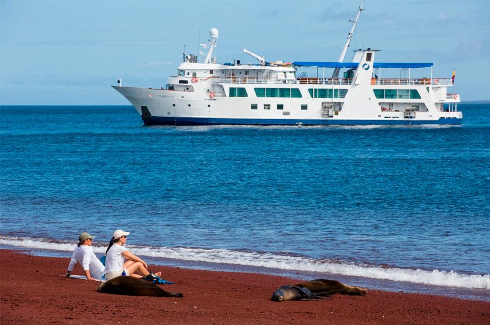 Yacht Isabela II in Galapagos, Ecuador.