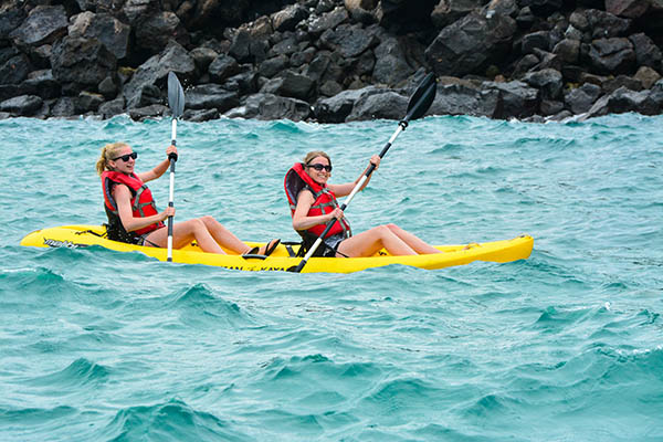 Kayaking: Best Galapagos Cruise Itinerary