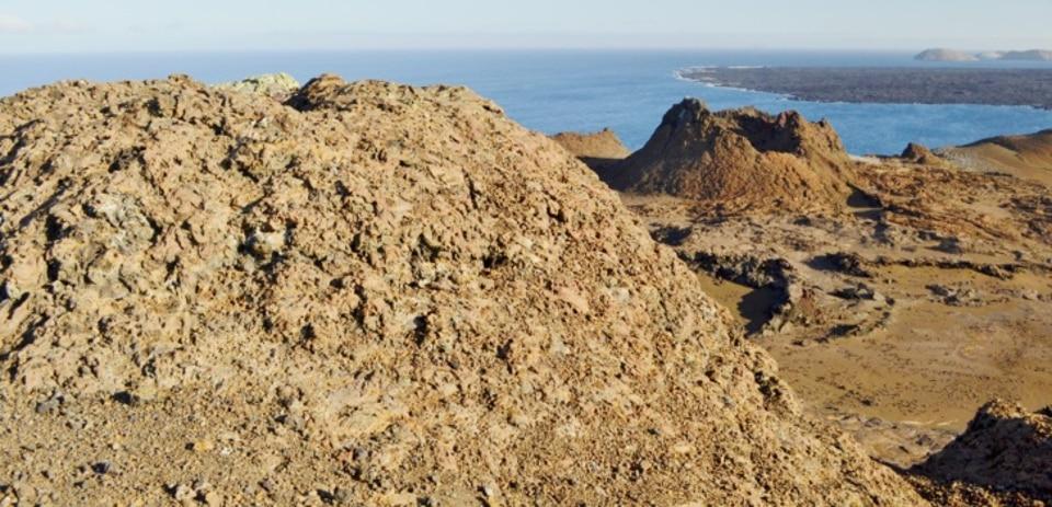 Galapagos volcanic terrain.
