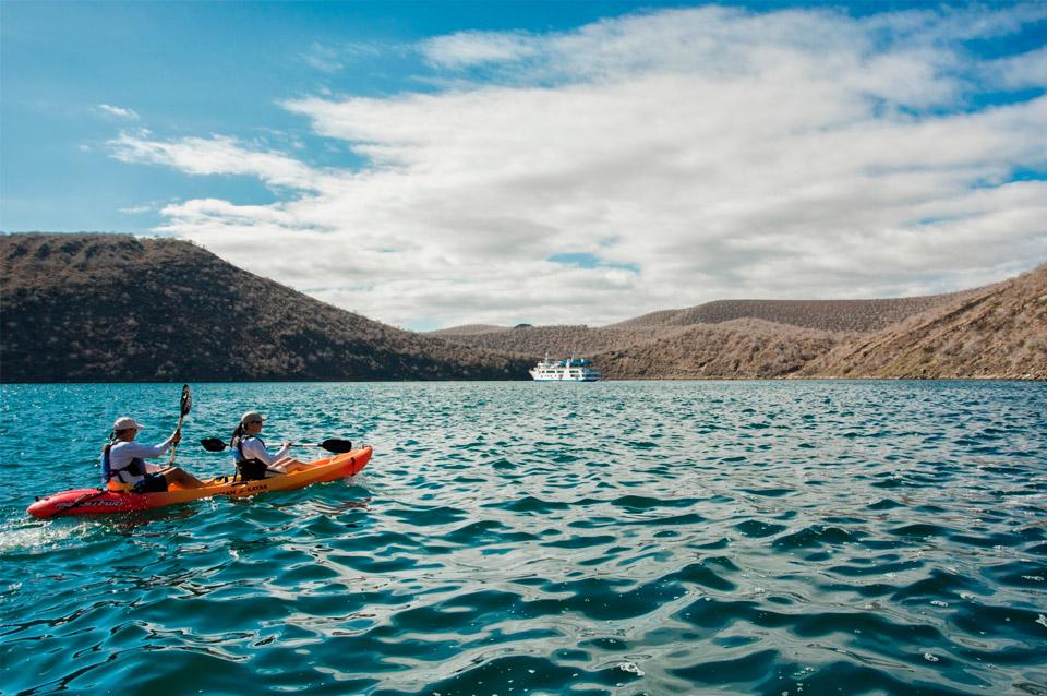 Kayaking in Galapagos.
