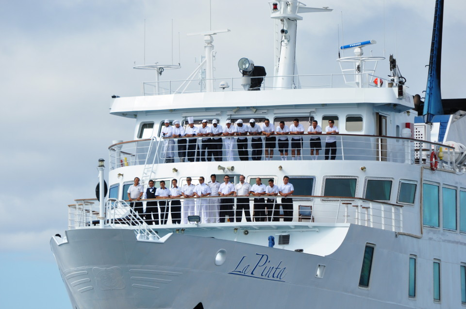 Yacht La Pinta crew.