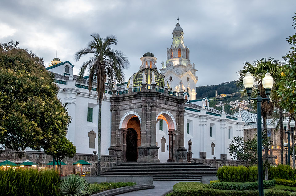 Quito's Metropolitan Cathedral in Old Town.