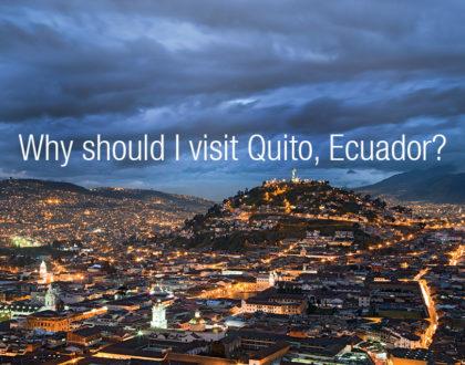 Quito panoramic night view.