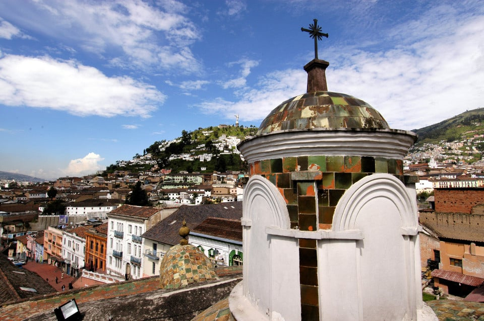 Quito's old town.