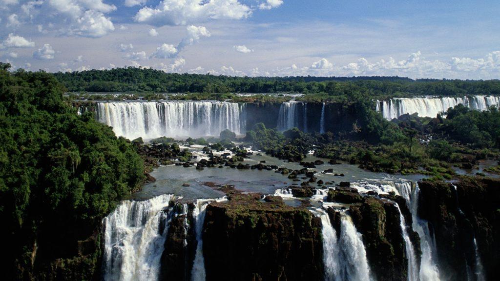 South America wonders, Iguacu Falls in Argentina.