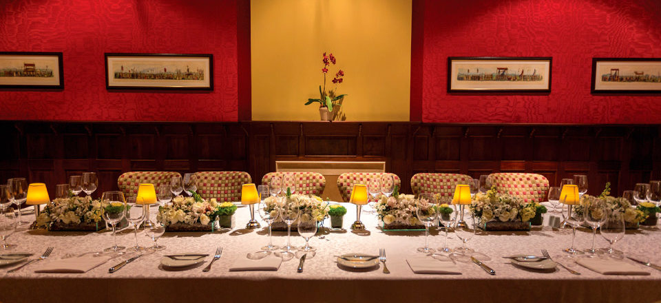 Casa Gangotena's dinning room.
