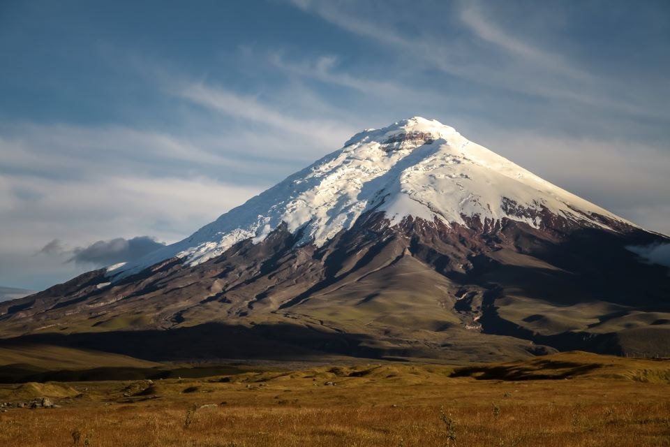 The view of Cotopaxi volcano.