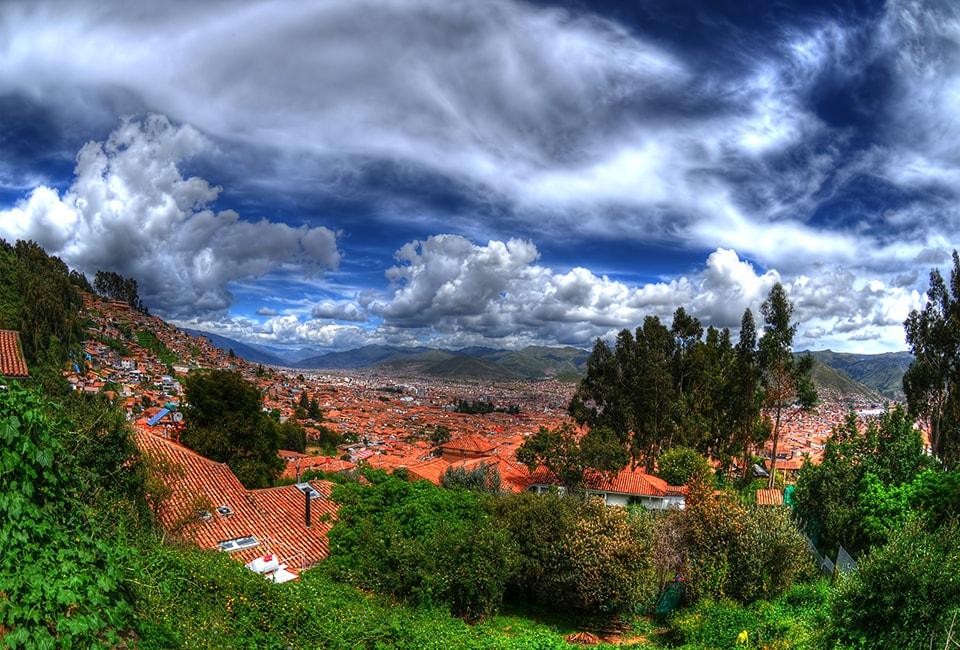 The view of Cusco Peru.