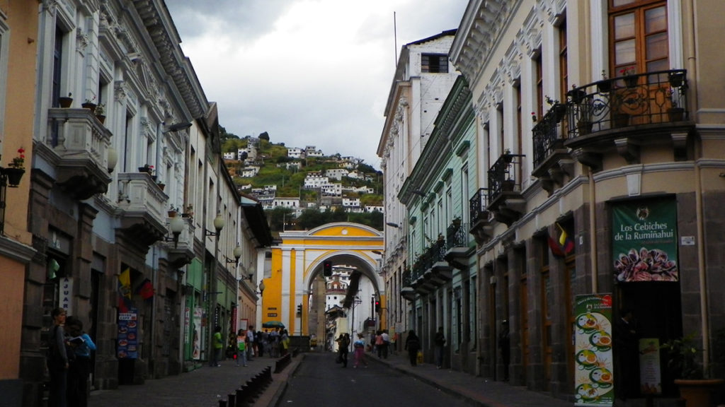 Downtown Quito.