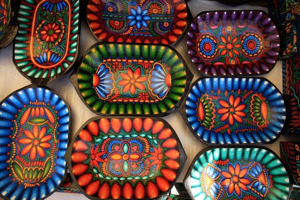 The Otavalo market in Ecuador.
