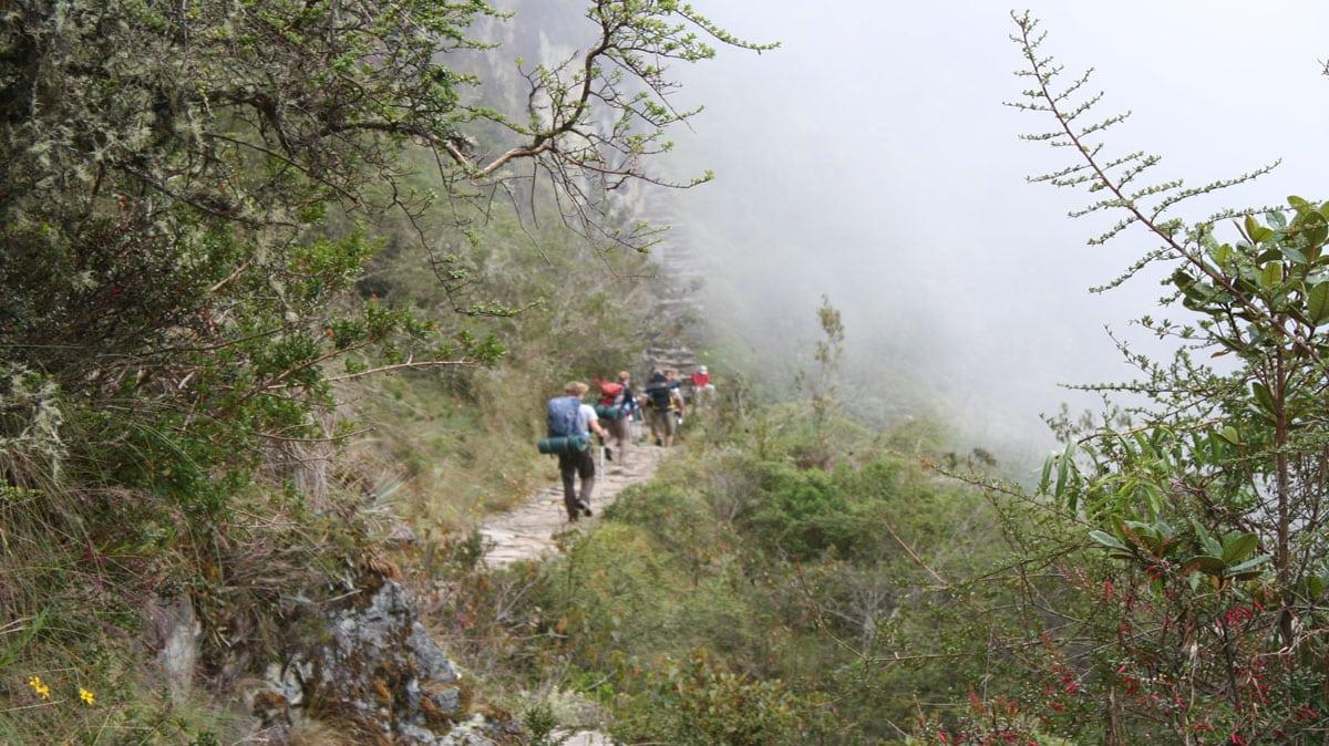 Guests exploring the Inca's trails.