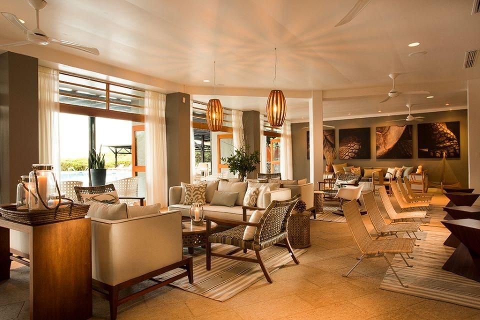 Finch Bay Gakapagos Hotel bar and lounge.