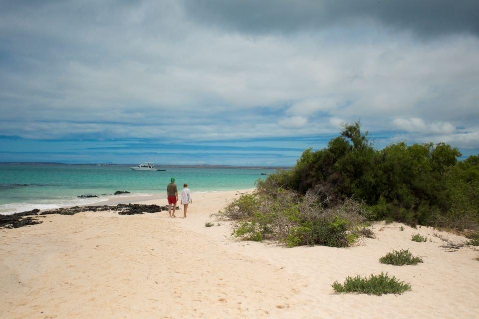 Finch Bay Galapagos Hotel's guests at the beach.