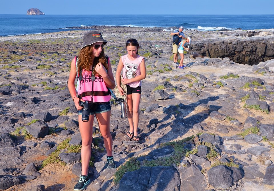 kids activities hiking in Galapagos