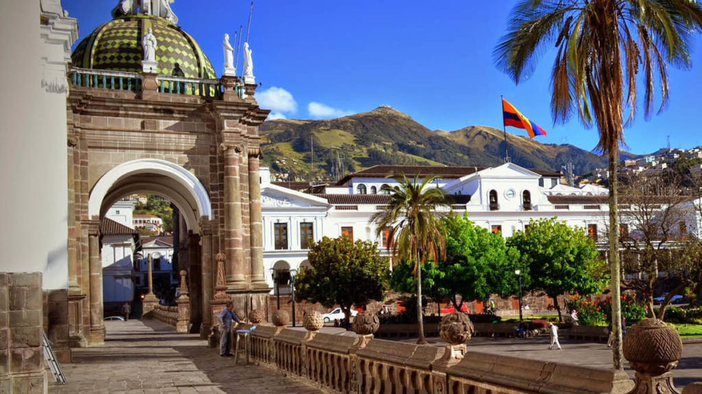 Quito's Independence Plaza in dowtown.