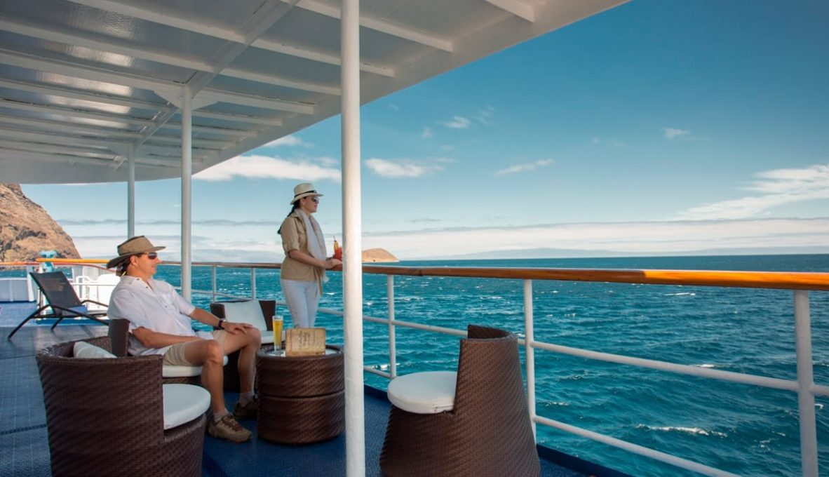 The sun deck in Isabela II Yacht.