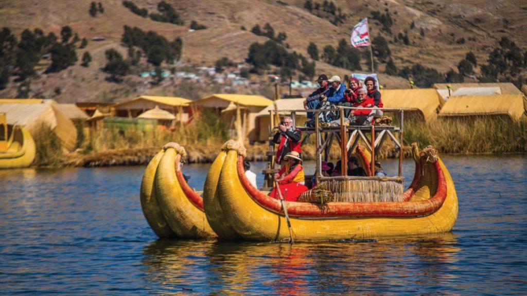Lake Titicaca in Peru.
