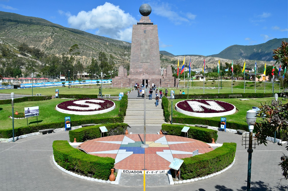 Middle of the world monument in Quito, Ecuador.