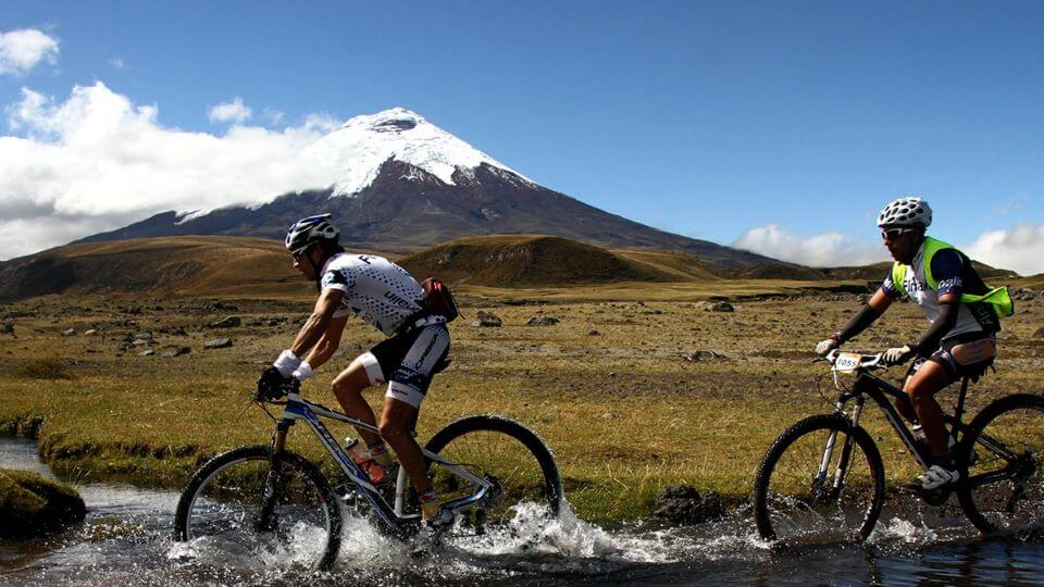 Guest on a mountain bike adventure in Cotopaxi's National Park.