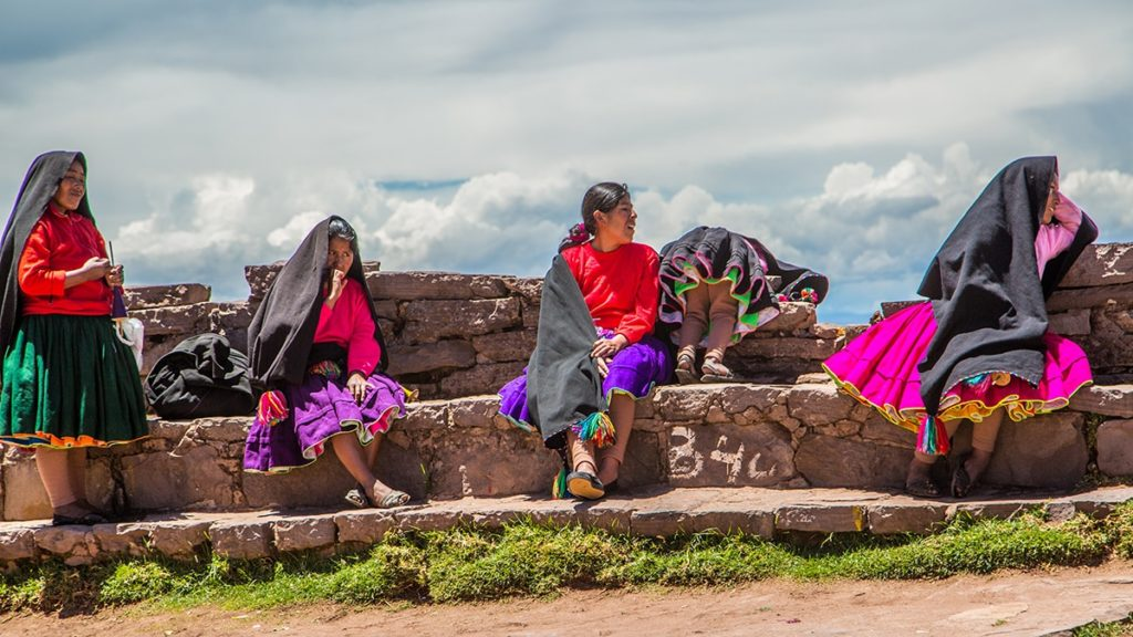 People from Puno and Lake Titicaca in Peru.