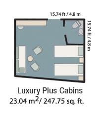 Triple/twin cabin.