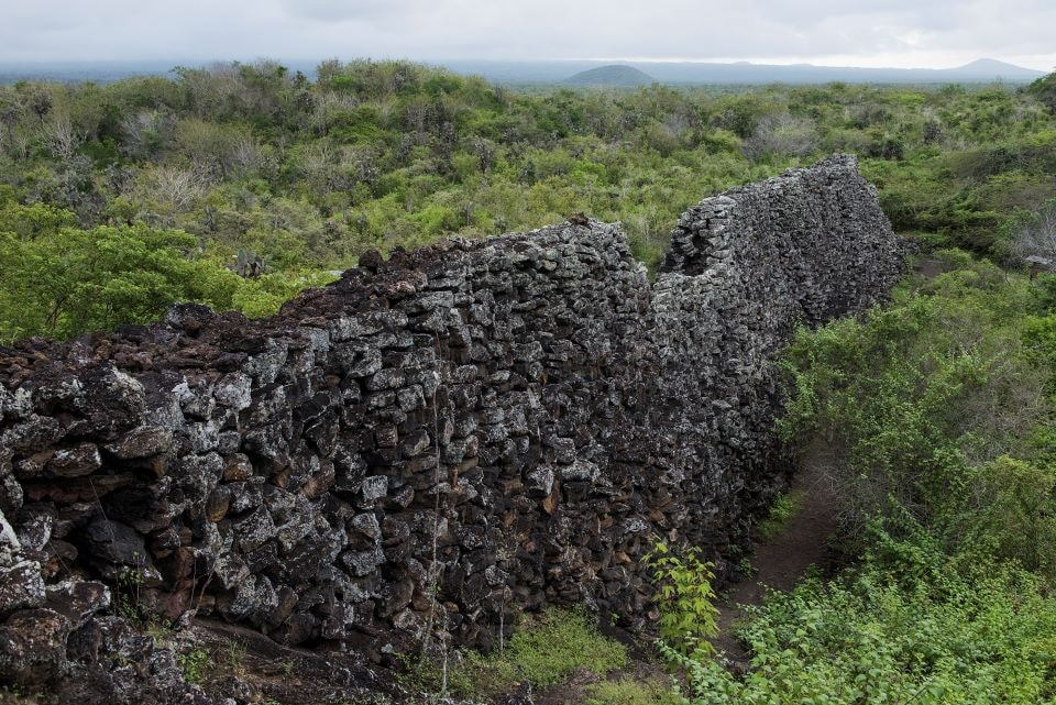 The Wall of Tears in the Galapagos Islands.
