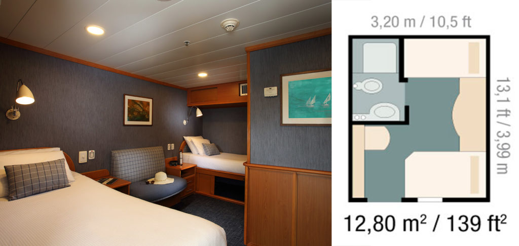 The Classic Cabin in Yacht Isabela II.