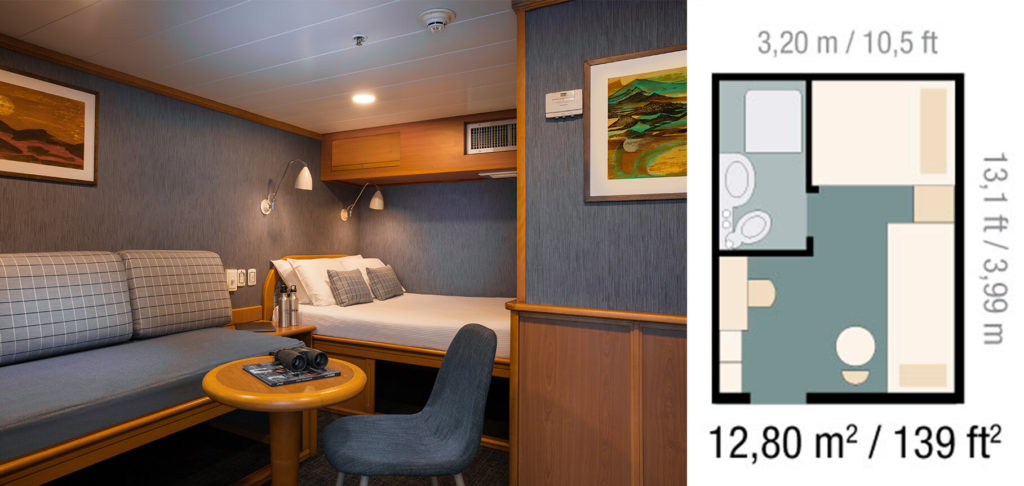 The Family Classic Cabin in Yacht Isabela II.