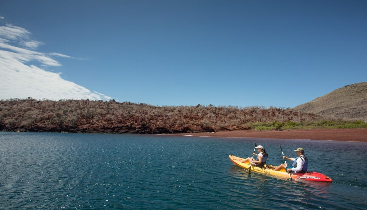 Kayaking in the Galapagos Islands.