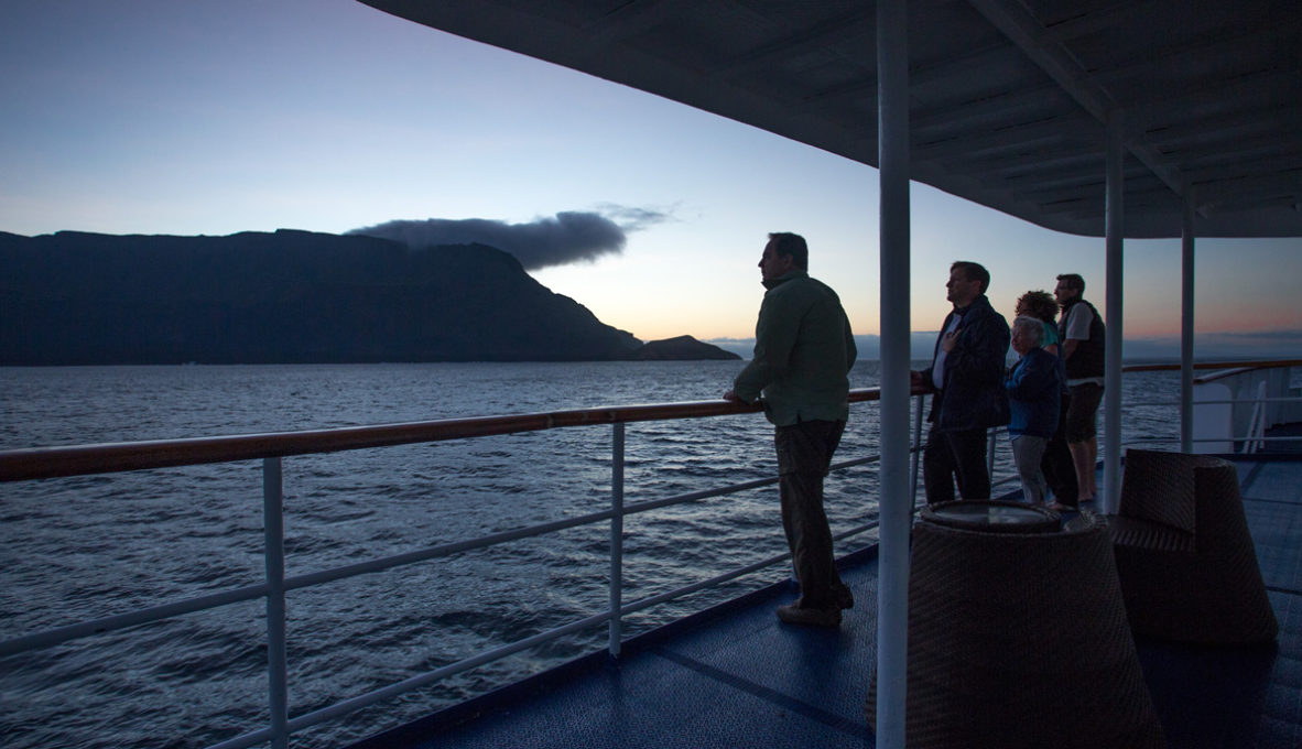 The sun deck in Yacht Isabela II.
