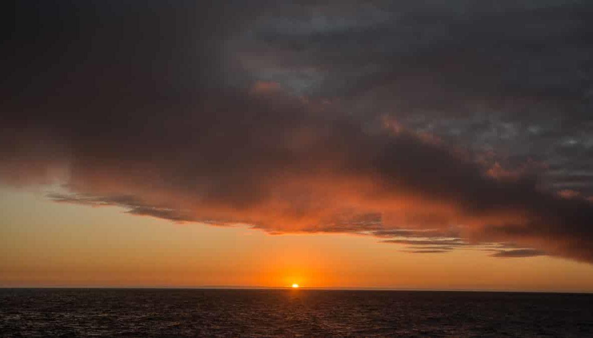Galapagos Islands sunset.
