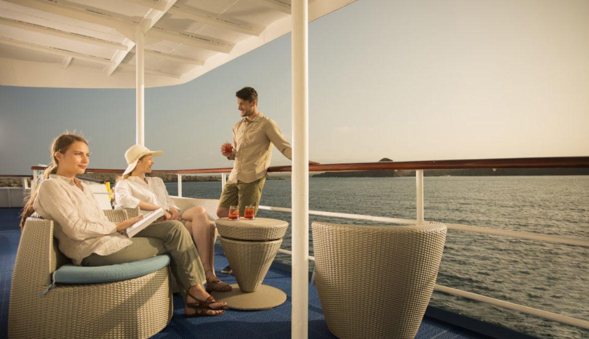 Sun deck in Yacht Isabela II.