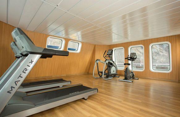 The fitness room in Santa Cruz II.