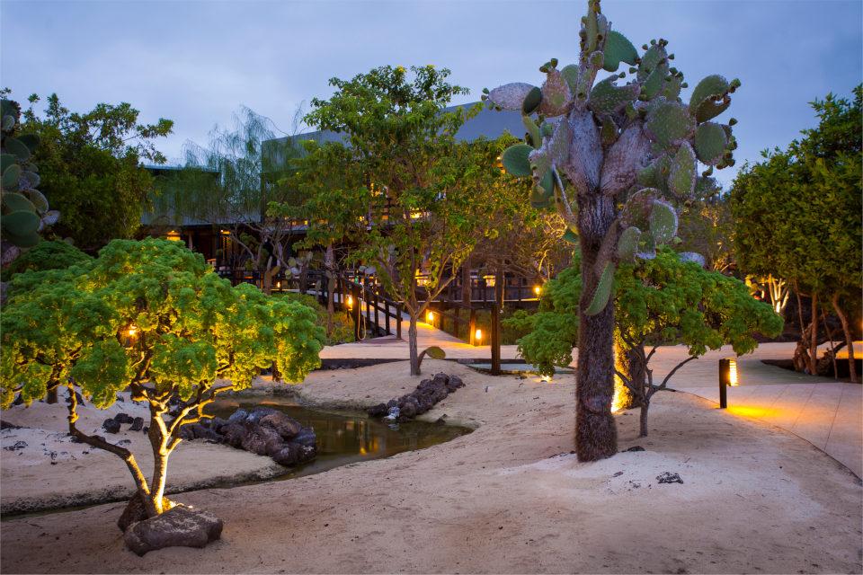 Finch Bay Galapagos Hotel garden view