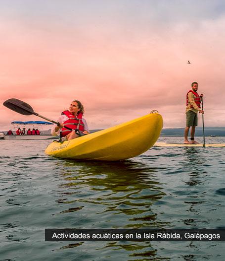 Actividades acuáticas en Galápagos