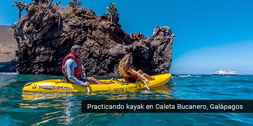 Actividades acuáticas en Galápagos.