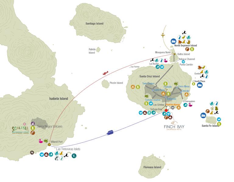 Galapagos Island Hopping Map