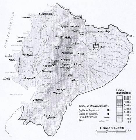 Ecuador Maps Metropolitan Touring - Physical map of ecuador