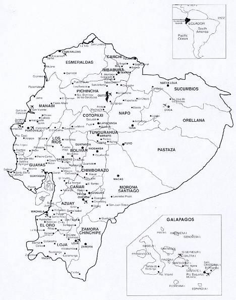 Ecuador Maps Metropolitan Touring