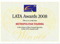 LATA Awards 2008 - Metropolitan Touring